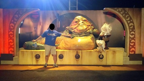 With Jabba the Hutt